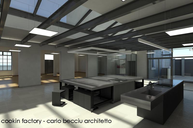 Carlo becciu architetto cookin factory torino for Scuola interior design