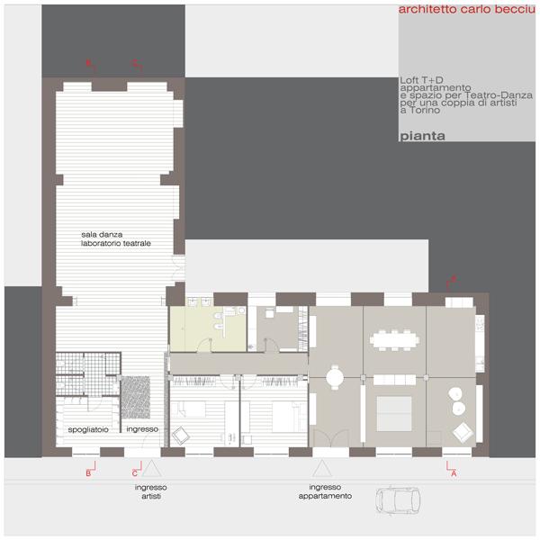 Carlo becciu architetto loft t d for Progetti di loft di stoccaggio garage